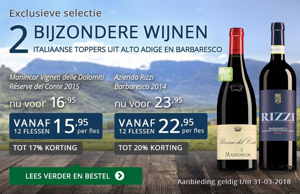 Exclusieve wijnen maart 2018 - blauw