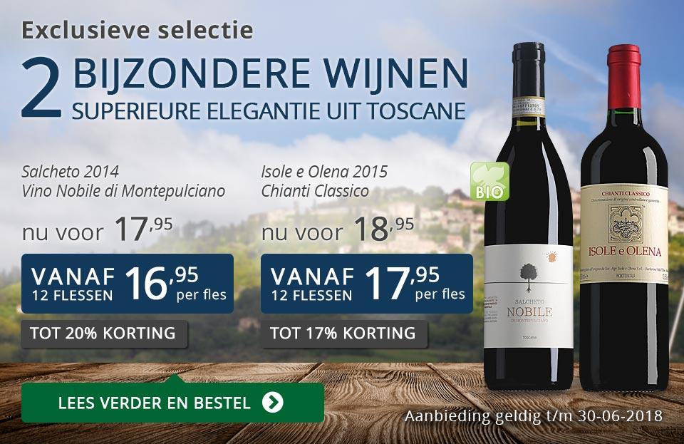 Exclusieve wijnen juni 2018 - blauw