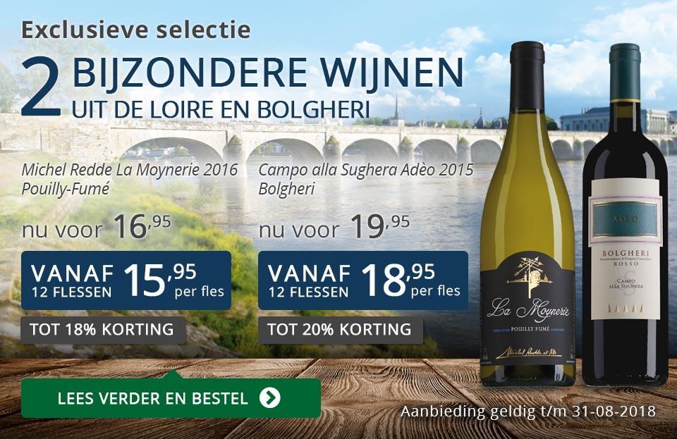 Exclusieve wijnen augustus 2018 - blauw