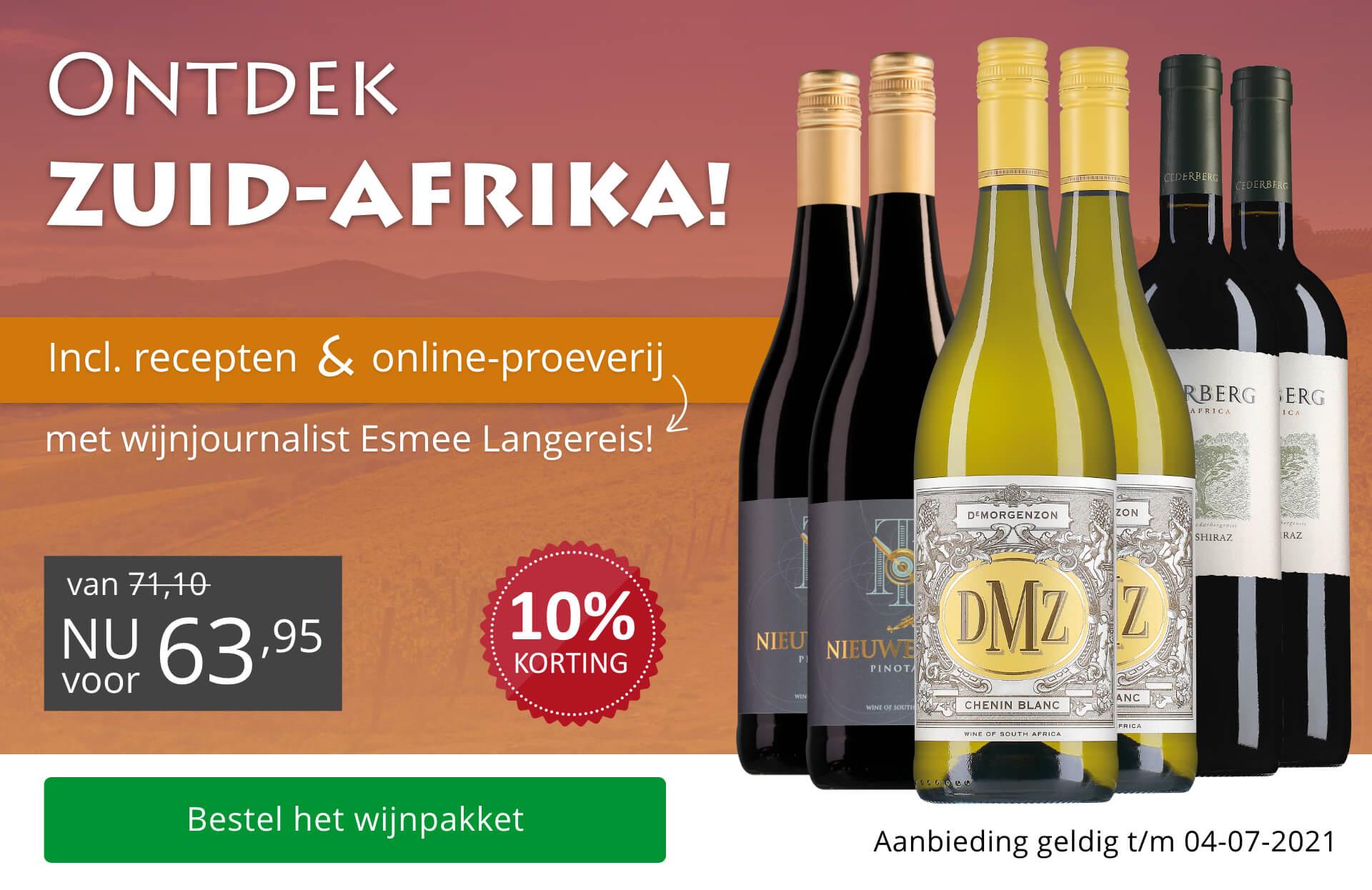 Ontdek wijnpakket Zuid-Afrika