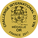 Medaille Challenge International Du Vin France 2017