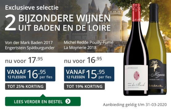 Twee bijzondere wijnen maart 2020 - blauw